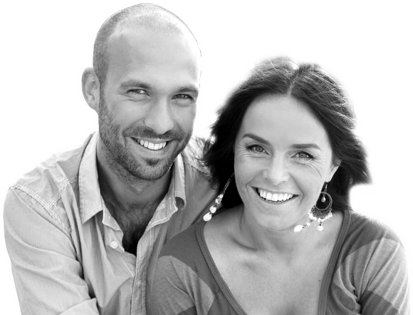 false teeth couple
